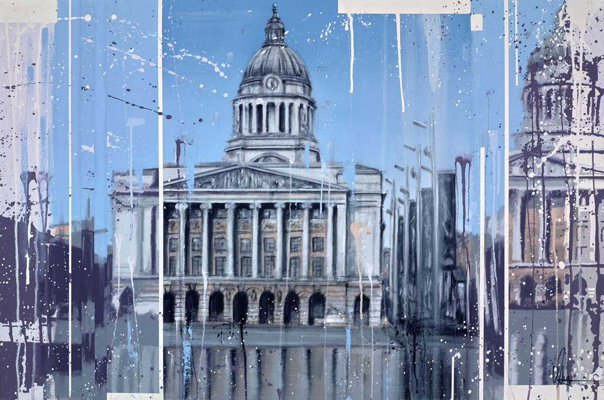 Nottingham Council House by kris hardy -  sized 36x24 inches. Available from Whitewall Galleries